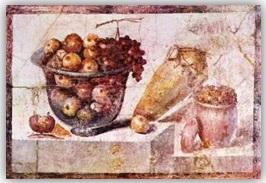 Fresque Nourriture romaine