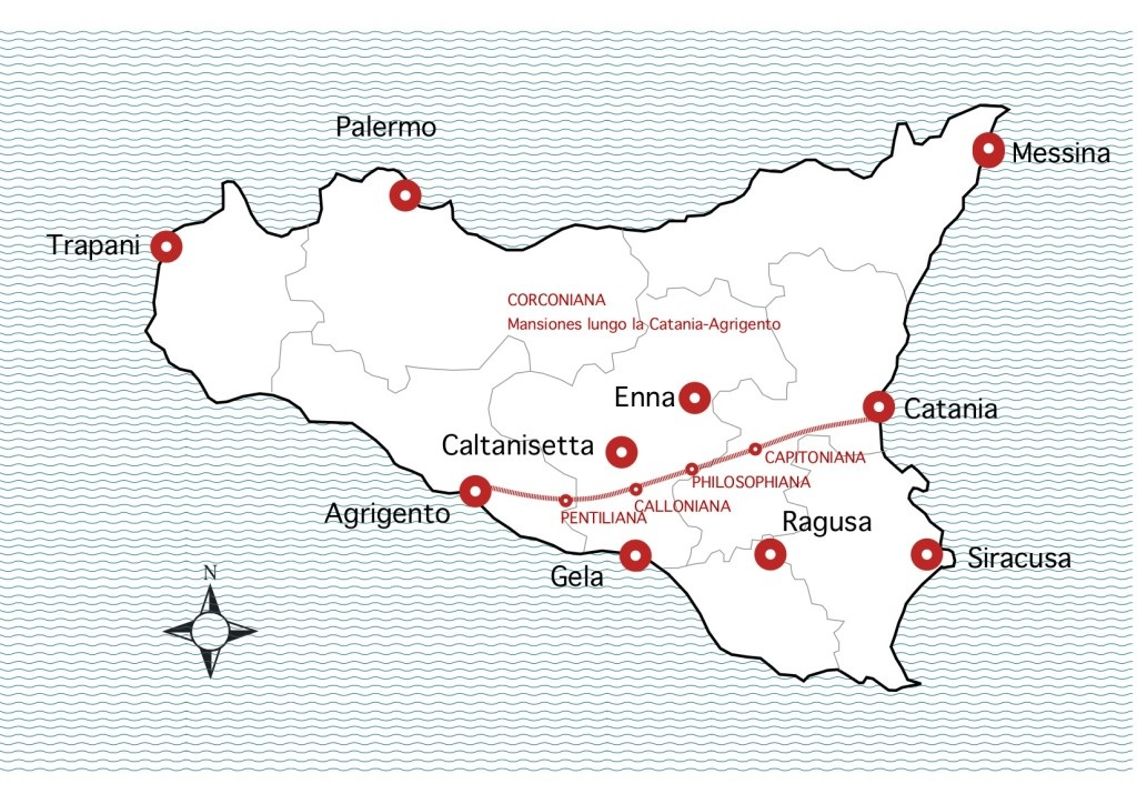 Sicile Voie romaine Est Ouest
